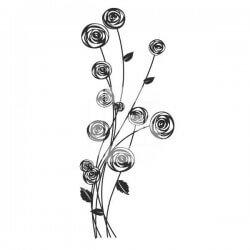 Vinilo floral vintage 2