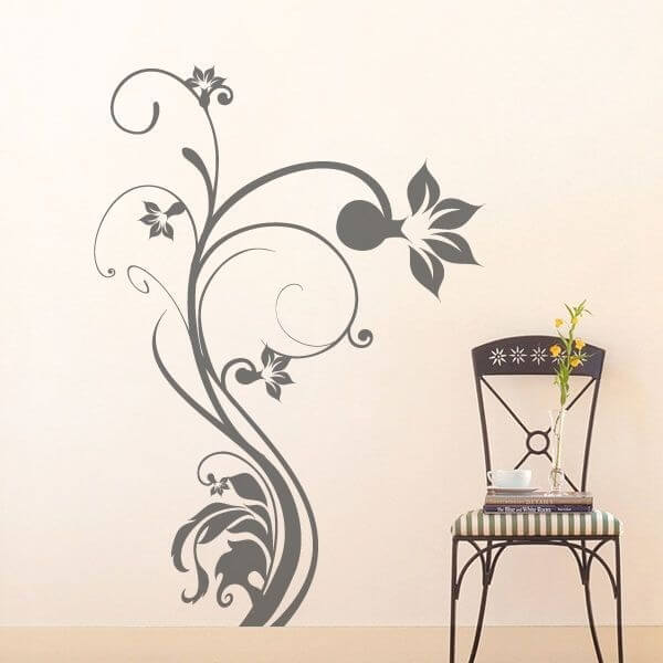 Vinil decorativo de flor tribal 2