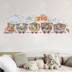 Vinilo bebé el tren del zoo