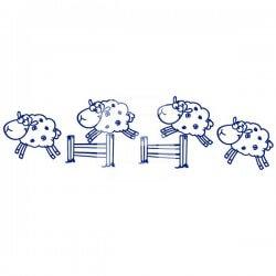 Vinilo bebé de ovejas