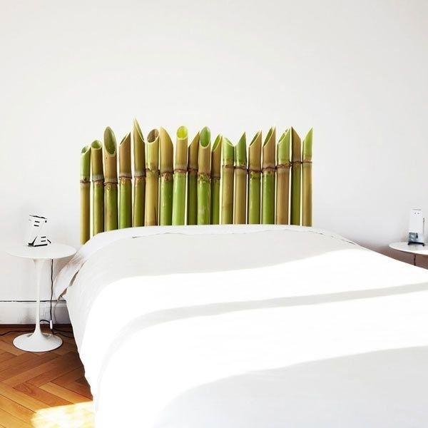 Vinilo de cabecero bambú