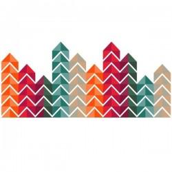 Vinilo de cabecero triángulos