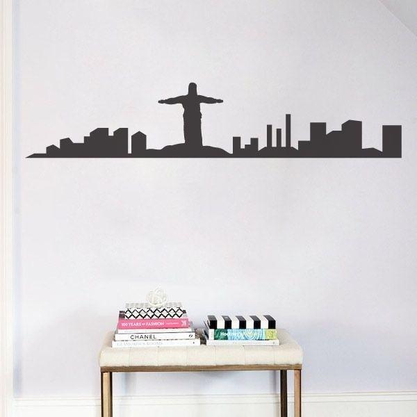 Vinilo de skyline Rio de Janeiro