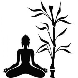 Vinilo meditación y bambú