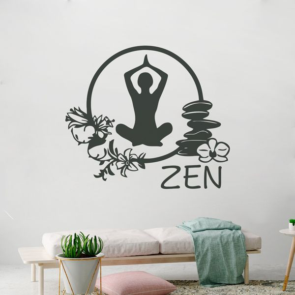 Vinilo zen con silueta