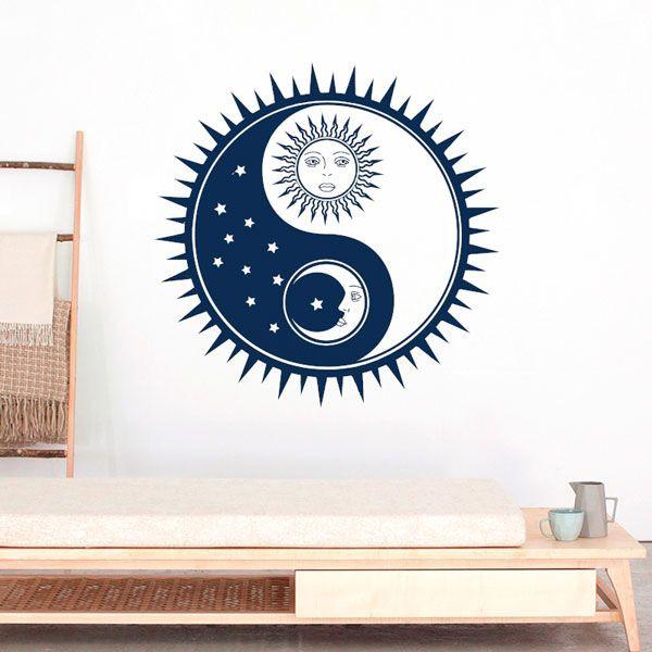 Vinilo Yin Yang sol y luna
