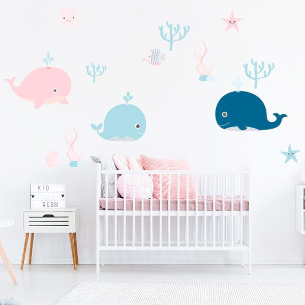 Vinilo ballenas infantiles