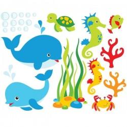 Vinilo infantil animales marinos