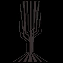 Vinilo de árbol circuito