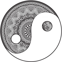 Vinilo mandala Yin Yang