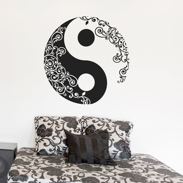 Vinilo Yin Yang ornamental