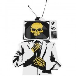 Adhesivo hombre de la tele
