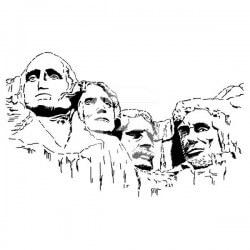 Vinilo Monte Rushmores