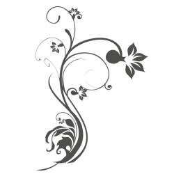 Vinil decorativo de flor tribal 2