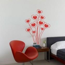 Adhesivo flores de corazones 1