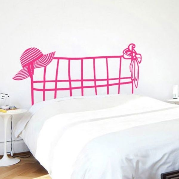 Vinilos de pared de cama cabecero adhesivos decorativos for Vinilos cabeceros