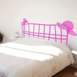 Vinilo para camas cabecero de mujer