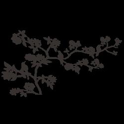 Vinilo árbol con pájaros
