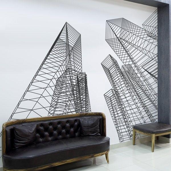 Mural decorativo torres de acero