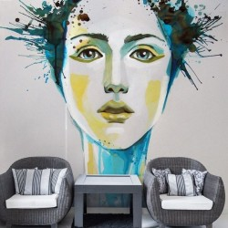 Mural decorativo watercolors