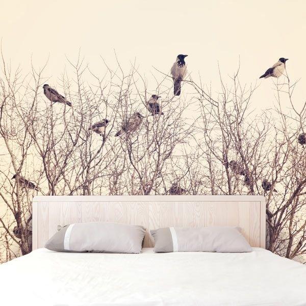 Fotomural ramas con pájaros