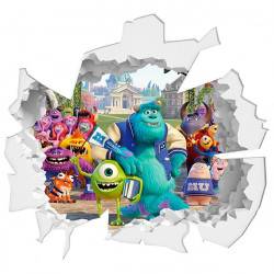 Agujero de pared monstros Disney
