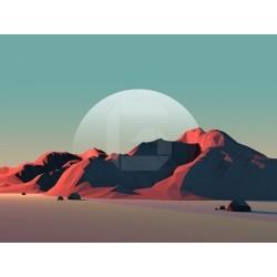 Fotomural montañas 3D