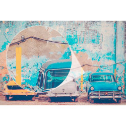 Fotomural coches Cuba