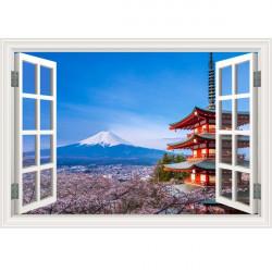 Vinilo ventana Monte Fuji