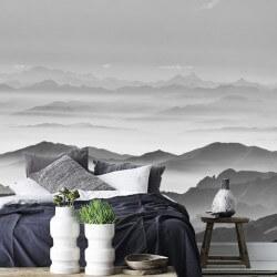 Mural de niebla en las...