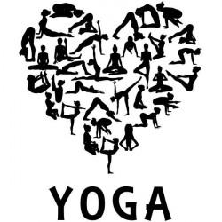 Vinilo siluetas yoga