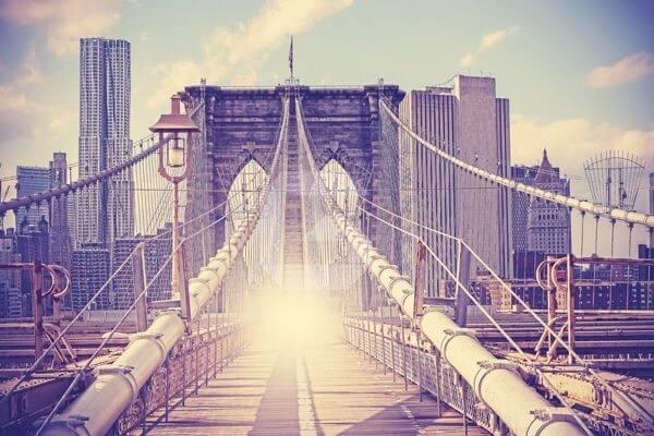 Fotomural Puente de Brooklyn   murales personalizados, papel pared.