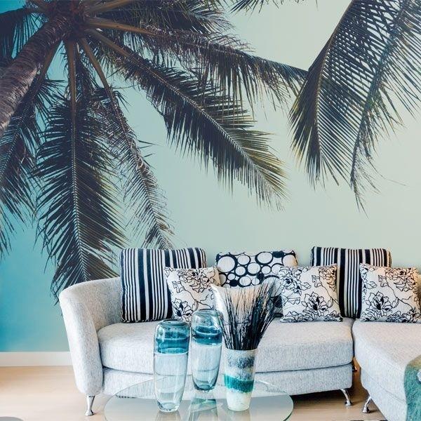 Mural decorativo palmera