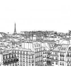 Fotomural dibujo de París