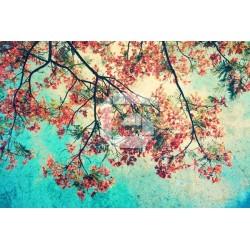 Fotomural árbol orange vintage