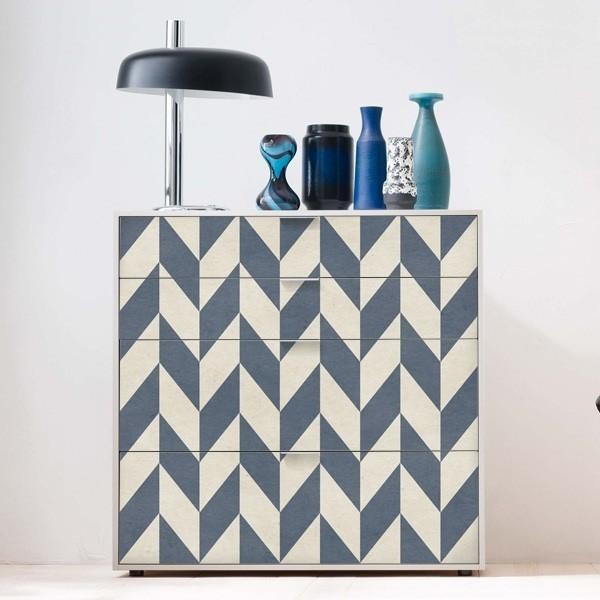 Vinilo mueble espiga azul adhesivos decorativos for Pegatinas para muebles