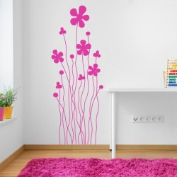 Vinilo decorativo flores infantiles