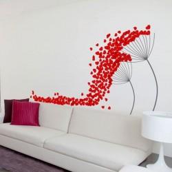 Vinilo adhesivo flores cayendo