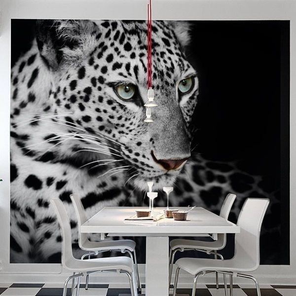 Mural leopardo de las nieves