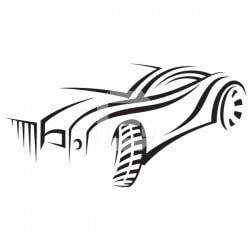 Vinilo de coche de carreras
