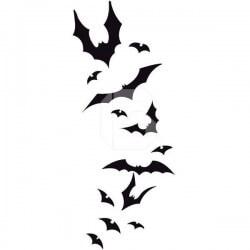 Vinilo decorativo de murciélagos