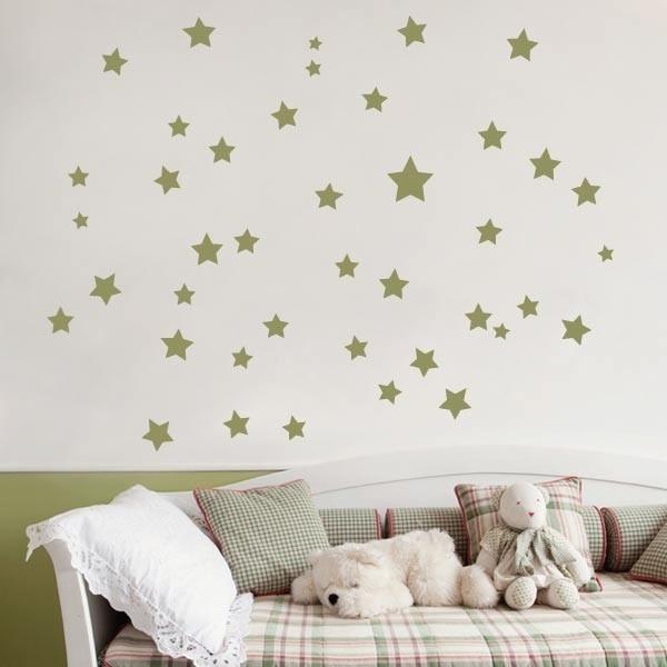 Vinilo infantil estrellas