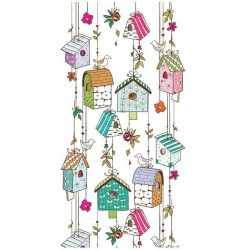 Adhesivo casitas de pájaros