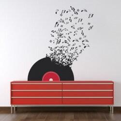 Vinilo notas de música
