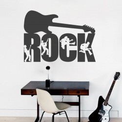Vinilo decorativo guitarra rock