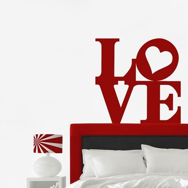 Vinilo decorativo letras love