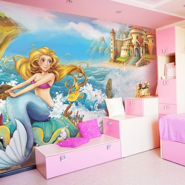 Mural decorativo la sirena