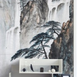 Mural diseño cascadas