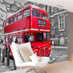 Mural de autobús en Londres