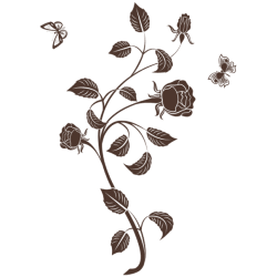 Vinilo decorativo rosas 1